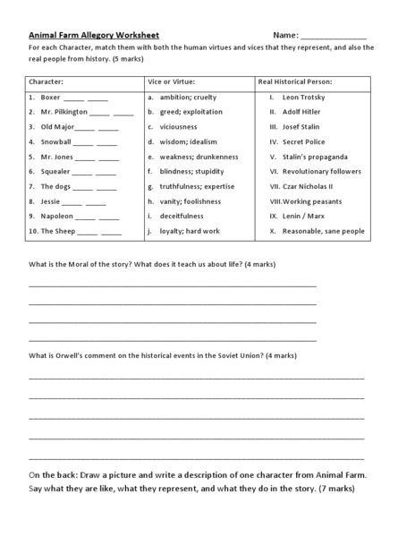 Image result for animal farm worksheets george orwell