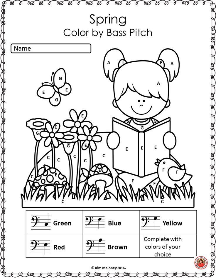 Color by Note Music Worksheet