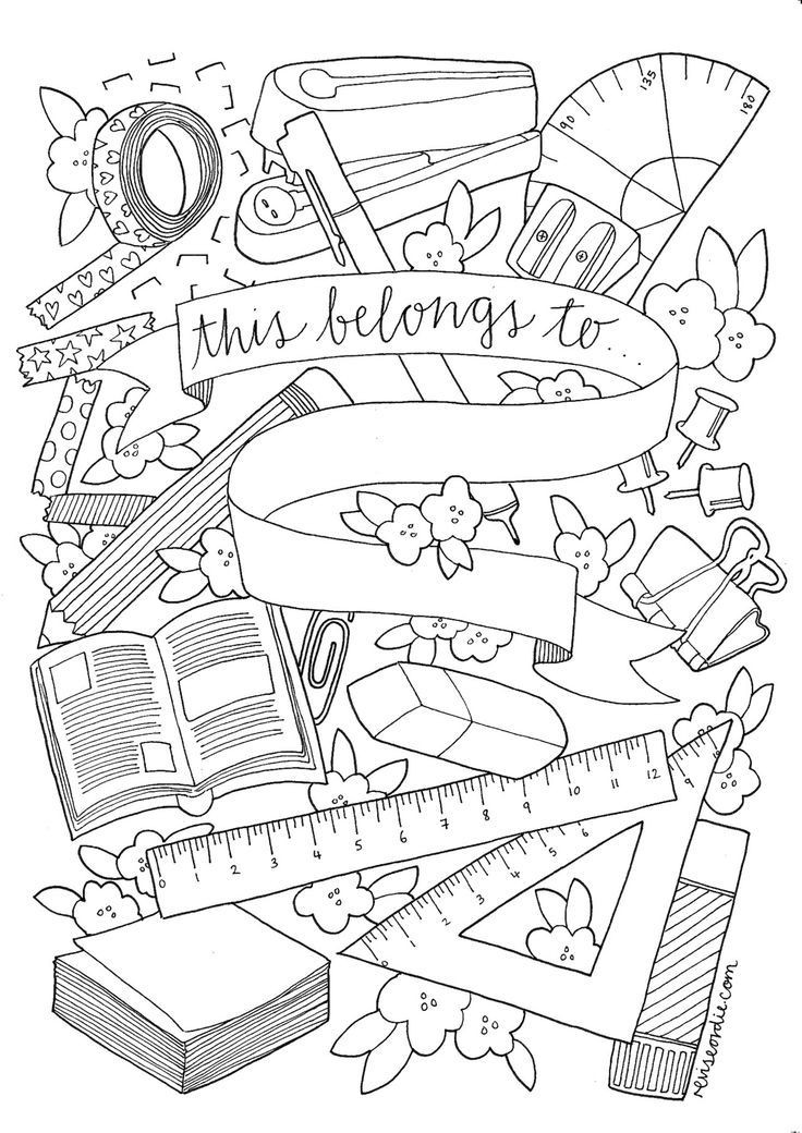 Coloring Worksheets for Middle School