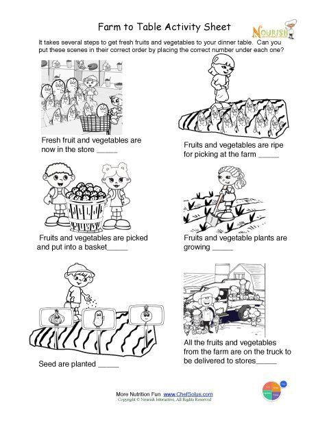 Printable Farm to Table Activity & Coloring Sheet