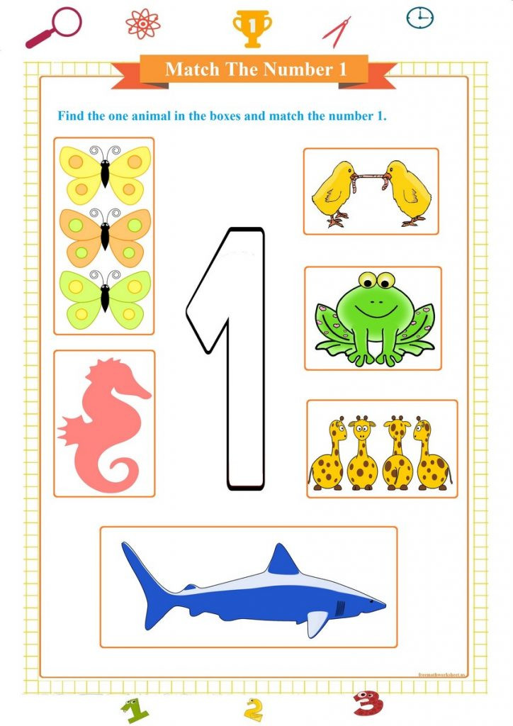 Match the Numbers Worksheet