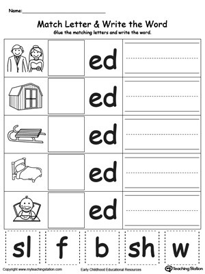 Matching Numbers to Words Worksheet