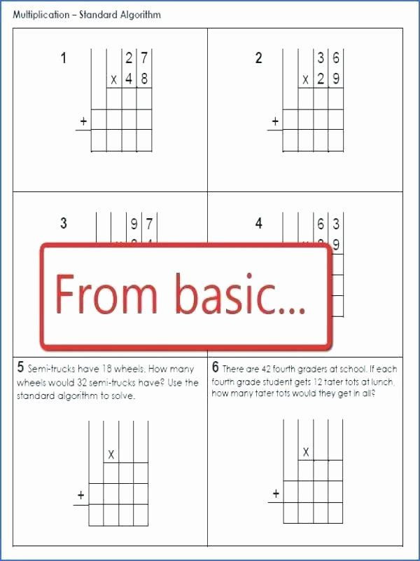 Multiplication Partial Products Worksheet