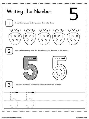 Learn to Count and Write Number 5