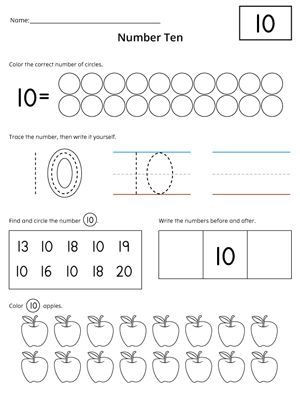 Numbers 1 to 20 Worksheets