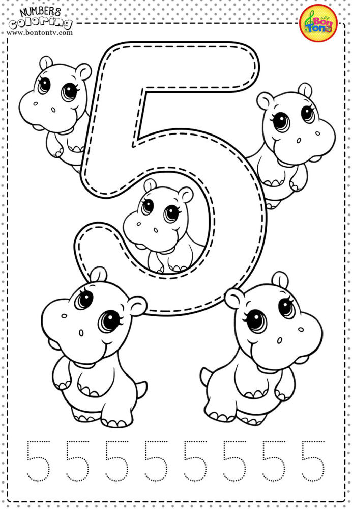 Simple Color by Number Worksheets