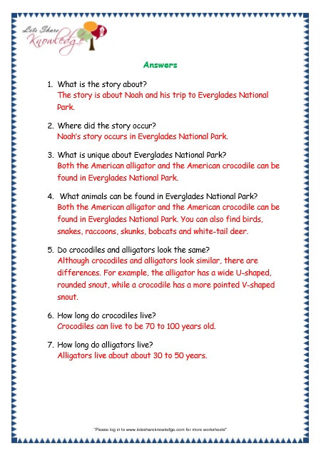 prehensions for Grade 3 Ages 7 9 Worksheets Passage 4