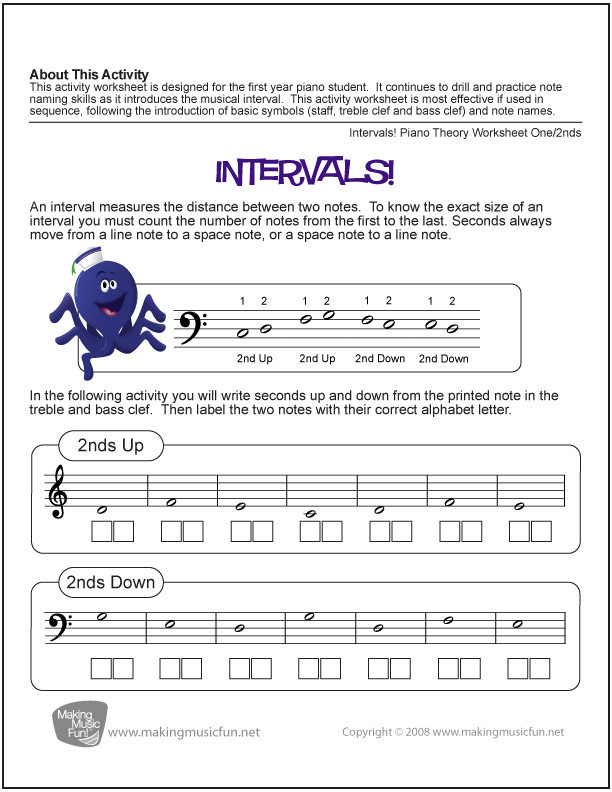 Bass Clef Note Reading Worksheet