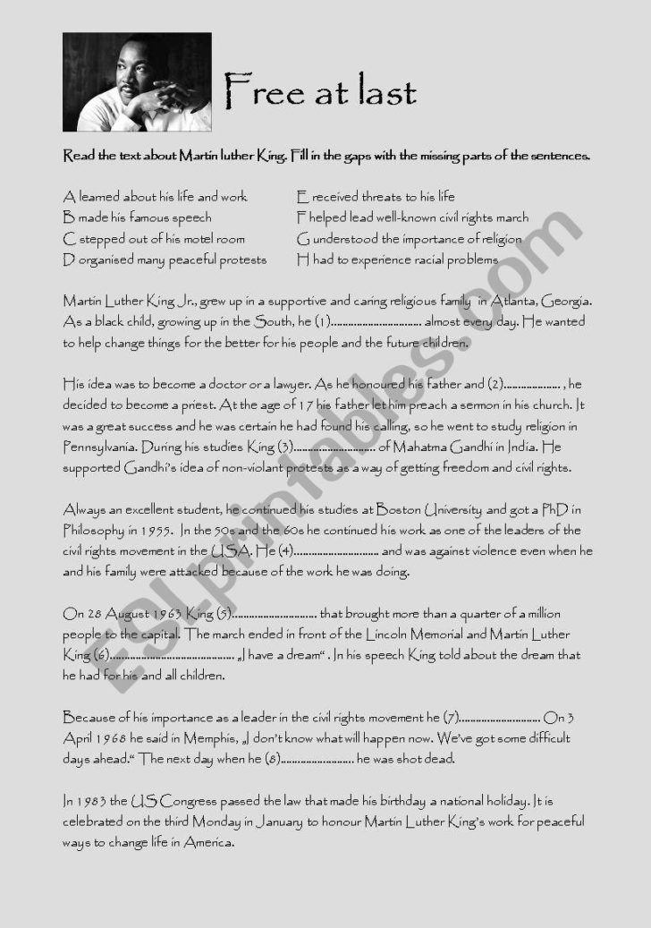 Civil Rights Worksheets Middle School