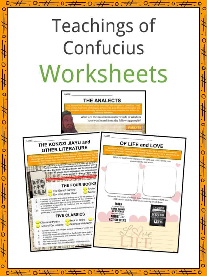 Confucius Facts Worksheets Teachings Journey & Political