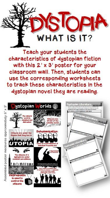 Teach your students all about dystopian fiction with this
