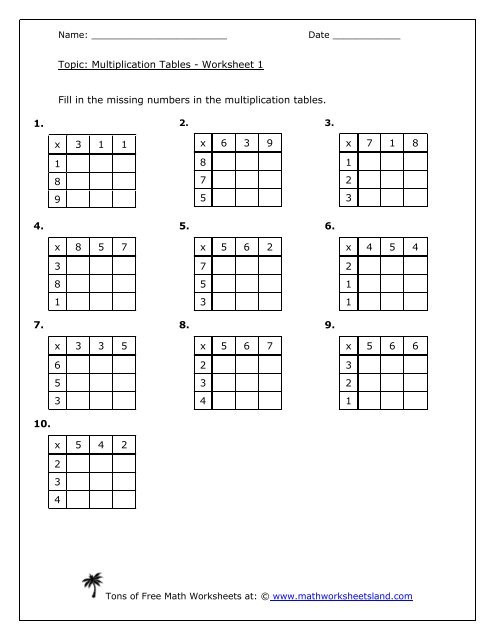 Division with Arrays Worksheet