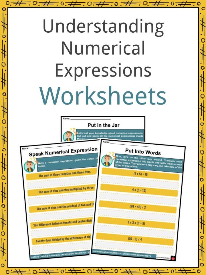 Evaluating Numerical Expressions Worksheet