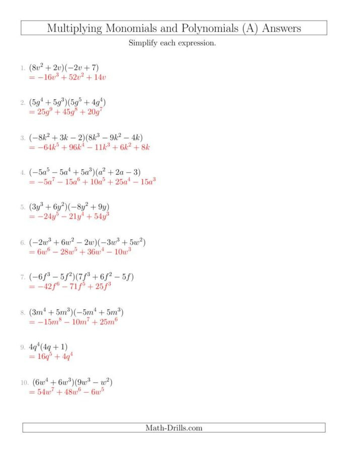 Factoring Polynomials Maze Worksheet Answers