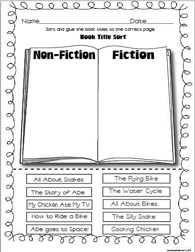 Fiction and Nonfiction Worksheets Pdf 79 Best Literacy