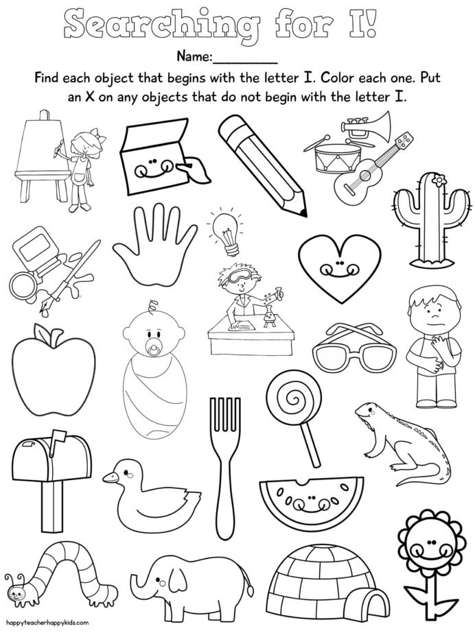 Free Special Education Worksheets