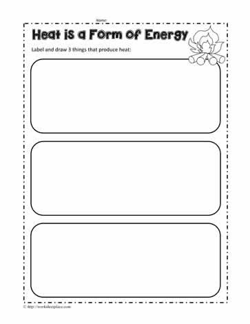 Heat and Energy Worksheets
