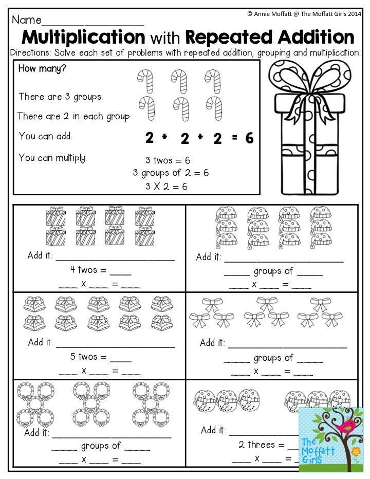 Worksheets Multiplication As Repeated Addition in 2020