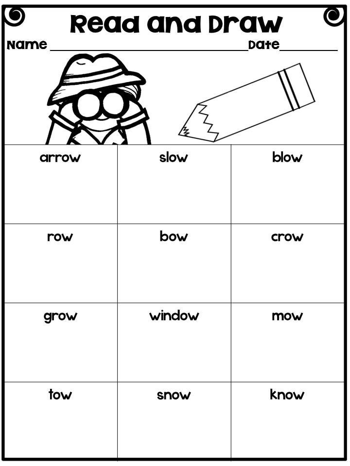 Oa and Ow Worksheet