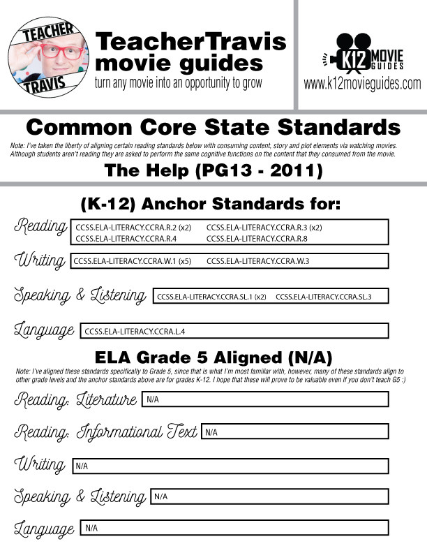 The Help Movie Viewing Guide Questions Worksheet