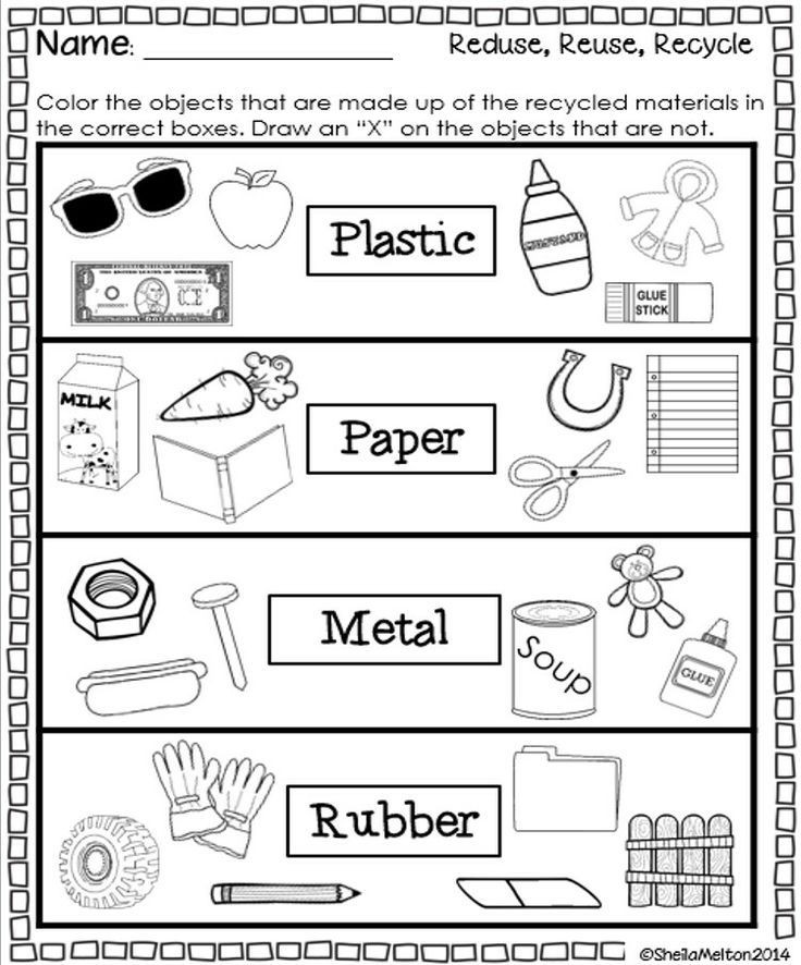 Reduce reuse and recycle activities and printables