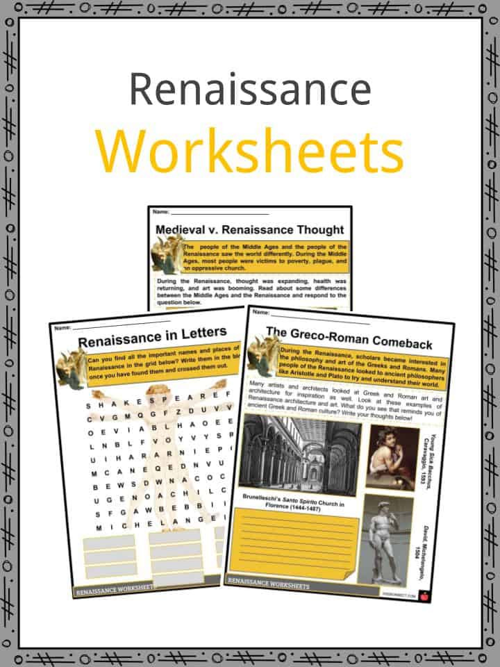 The Renaissance Period Facts Information Worksheets