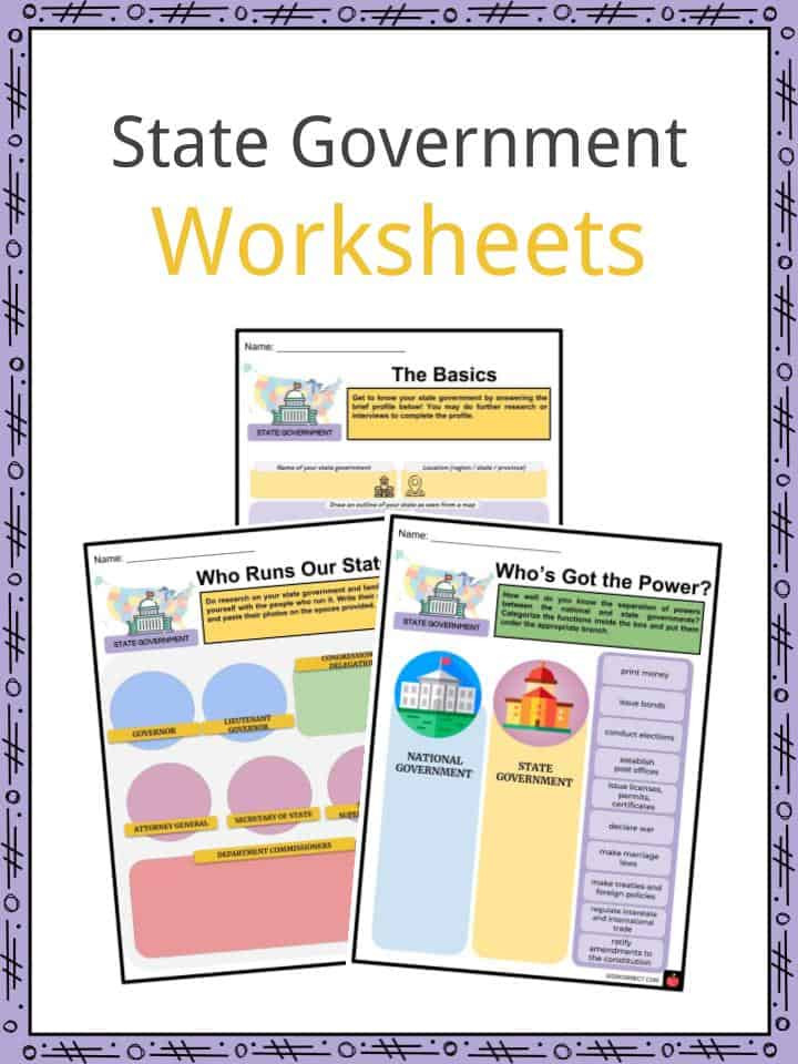 State Government Facts Worksheets Structure Revenue
