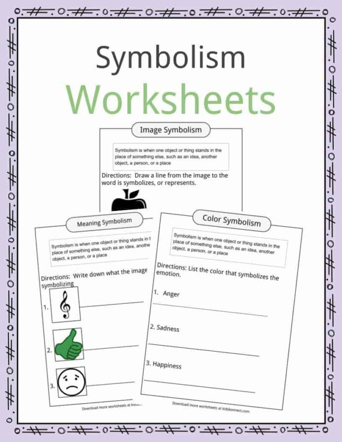 Symbolism Examples Definition Worksheets For Kids In Poetry