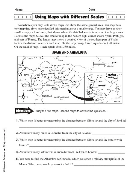 Free Map Scale Lesson Plans Worksheets Reviewed By Teachers