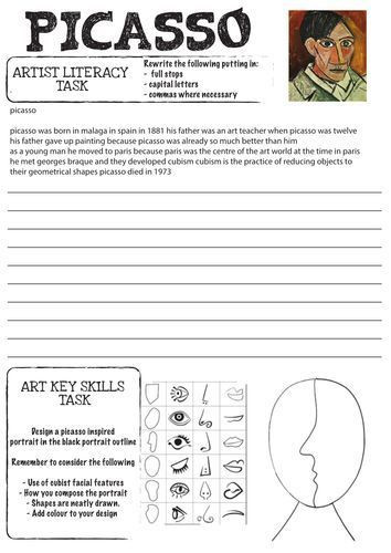 Roll A Picasso Worksheet